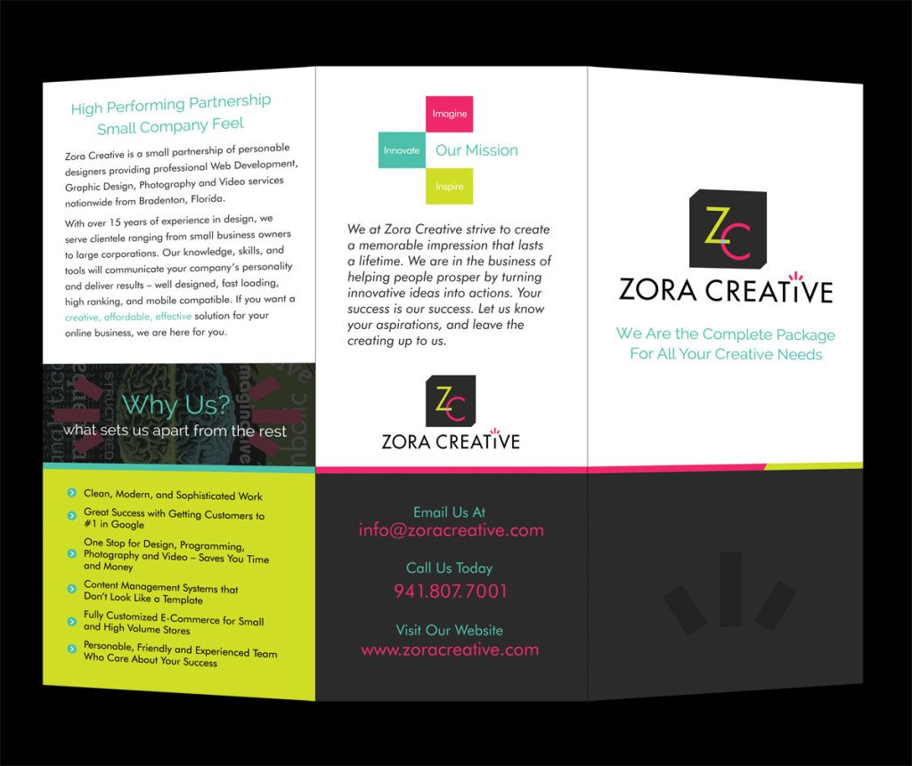 Zora creative brochure front zora creative web designers brochurefront 3d web maxwellsz